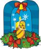 Christmas Candle Display clipart