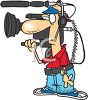A Cartoon Television Cameraman clipart