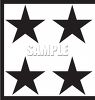 Four Black and White Stars clipart