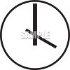 Black and White Clock Face clipart