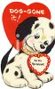 Vintage Valentine Card Showing a Dalmation Puppy clipart