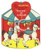 Vintage Valentine Card Showing Kids on a Carousel clipart