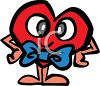 Cartoon Heart with Crazy Eyes clipart