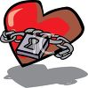 Lock and Chain Around a Heart clipart