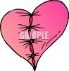 Broken Heart Stitched Up clipart