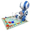 3D Robot Child Playing a Board Game clipart