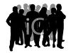 Crowd of People Silhouette clipart