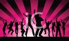 Group of Dancing People Silhouette clipart