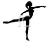 Silhouette of a Ballet Dancer clipart