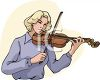 Female Violinist clipart