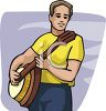 Man Playing a Banjo clipart