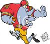 Rhino Playing Football clipart