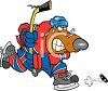 Bear Playing Hockey clipart