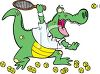 Crocodile Playing Tennis clipart