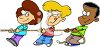 Kids Playing Tug-of-War clipart