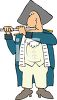 Civil War Musician Playing a Flute or Fife clipart