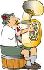Polka Musician Playing a Tuba clipart
