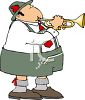 Polka Musician Playing a Trumpet clipart