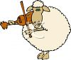 Sheep Musician Playing a Violin clipart