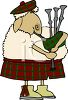Sheep Musician Playing the Bagpipes clipart