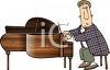 Man Playing a Grand Piano clipart