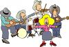 Country and Western Band clipart