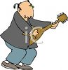 Musician Playing a Japanese Banjo-A Shamisen clipart