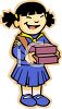 Ethnic Girl Scout Selling Cookies clipart