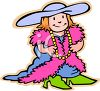 Little Girl Playing Dress Up clipart
