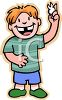 Boy Holding Up His Newly Lost Tooth clipart