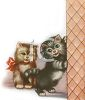 Vintage Kittens Playing clipart