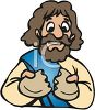 Jesus Breaking Bread clipart