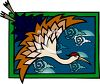 Oriental Crane in a Japanese Design clipart