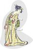 Japanese Kabuki Actor clipart