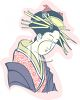 Japanese Woman Dressed for Kabuki Drama clipart