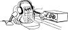 Cartoon of a Ham Radio clipart