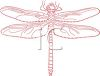 Stylish Dragonfly clipart