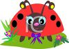 Whimsical Ladybug with a Bow clipart