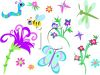 Insects and Flowers clipart