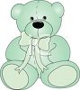 Green Plush Stuffed Teddy Bear clipart