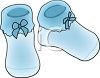 Blue Knitted Baby Booties clipart