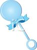 Blue Baby Rattle clipart