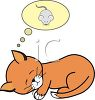 Kitten Dreaming of a Mouse clipart