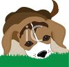 Puppy Laying in Grass clipart