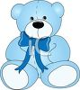 Blue Plush Stuffed Teddy Bear clipart