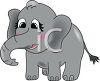 Cartoon of a Baby Elephant clipart