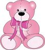 Pink Plush Stuffed Teddy Bear clipart