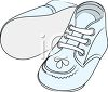 Blue Soft Soled Baby Shoes clipart