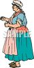 Old Fashioned Chamber Maid clipart