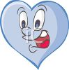 Animated Heart with a Goofy Face clipart
